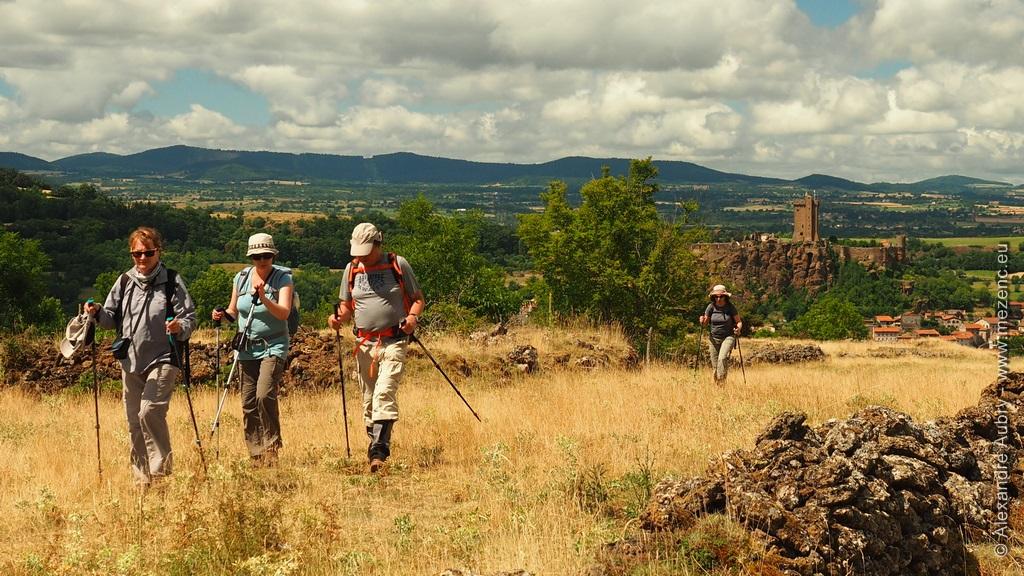 Randonnée près de la forteresse de Polignac