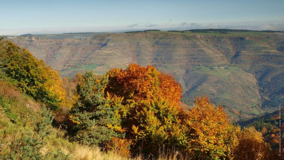 Paysage d'automne dans les Boutières