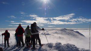 Mer de nuages au sommet du Mont Mézenc