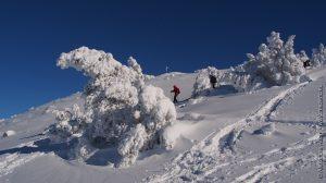 Raquette à neige au Mont Mézenc