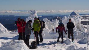 Vue sur la chaîne des Alpes depuis le massif Mézenc Gerbier