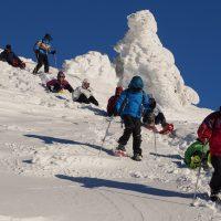 Raquette à neige sur le Mont Mézenc